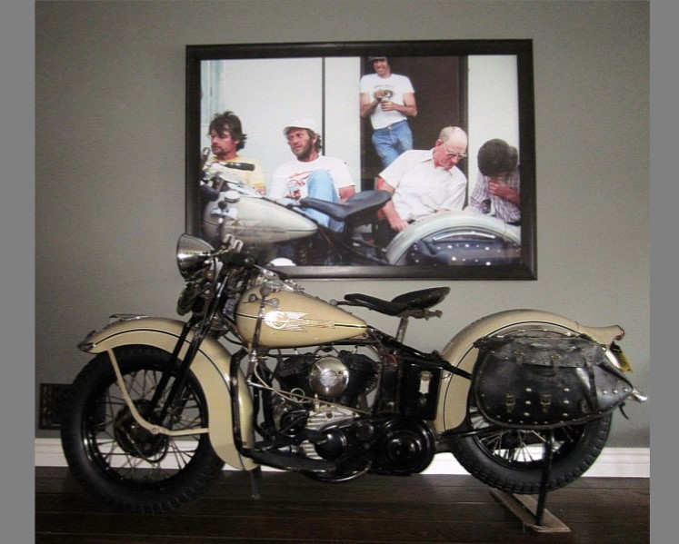 Steve McQueen 1938 Harley-Davidson WLD Solo Sport Sold at 125,000 USD