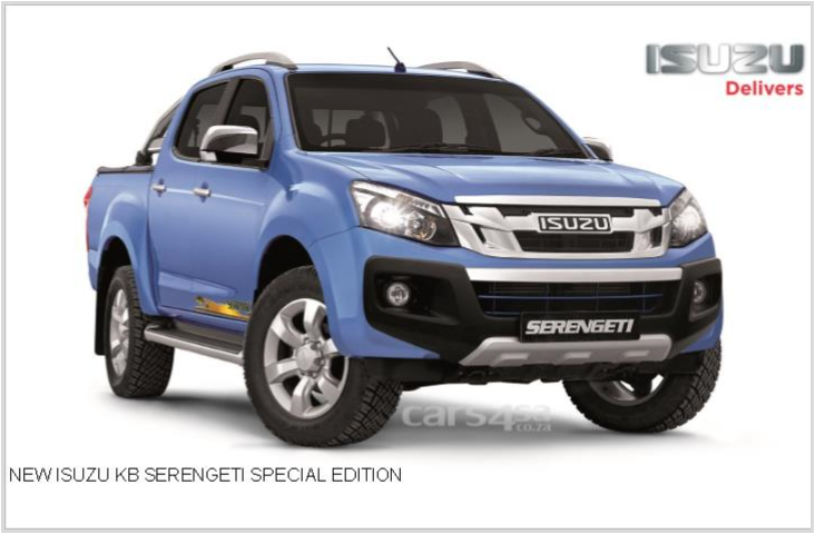 MIGRATE TO THE NEW ISUZU KB SERENGETI SPECIAL EDITION News Image