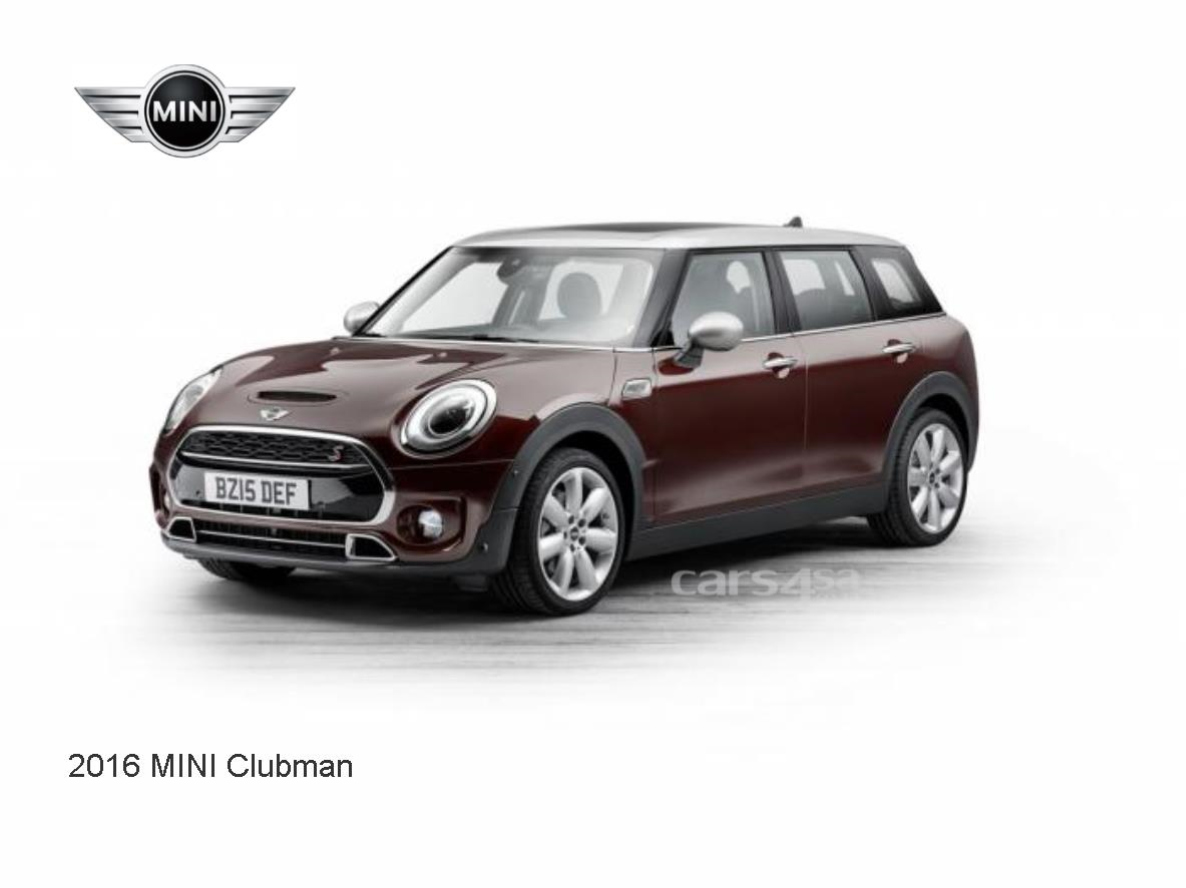 2016 MINI CLUBMAN UNVEILED News Image