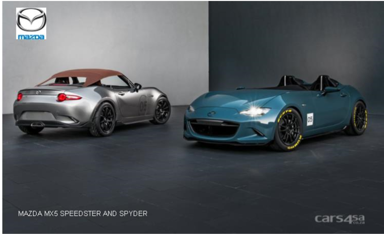 MAZDA MX5 SPEEDSTER AND SPYDER UNVEILED AT SEMA 2015 News Image