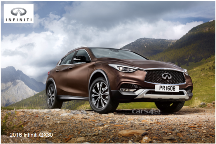 2016 INFINITI QX30: A PREMIUM ACTIVE CROSSOVER FOR ALL PURPOSES  News Image