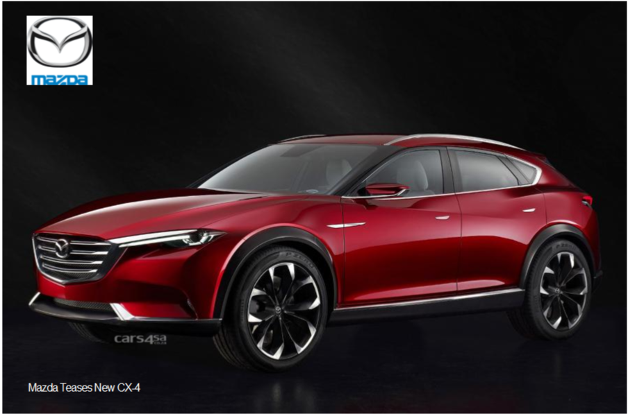 Mazda Teases New CX-4 `Exploring Coupe` News Image