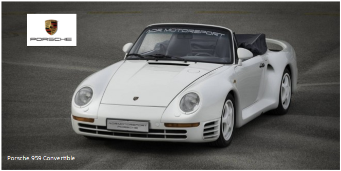 ONE-OFF PORSCHE 959 CONVERTIBLE UP FOR SALE News Image