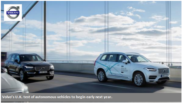 Volvo to Put Autonomous Vehicles Into Consumer Hands for Test News Image